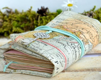 Map journal Travel journal Diary Writing journal Blank book Notebook Sketchbook Personalized journal Custom journal Travel notebook Gift