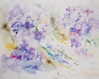 Violet. Print of the painting by Annet Loginova on canvas. FREE SHIPPING