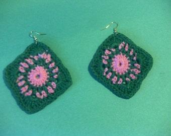 Handmade Crochet AKA Square Earring's!