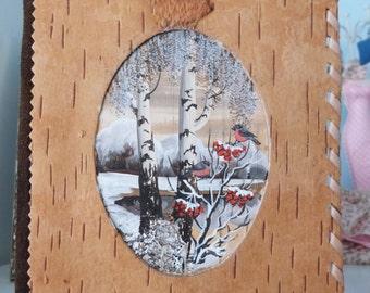 Birch bark photalbum/notebook