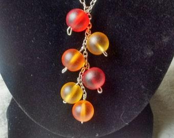 OrangeYellowRed Necklace/Earring Set