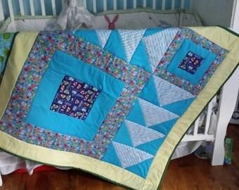 Homemade car/transportation baby quilt