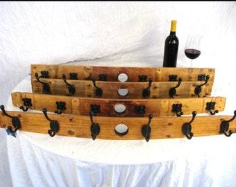Coat Rack Made From Repurposed Wine Barrels