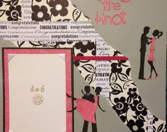 Premade 12 x 12 Tying the Knot Scrapbook Page
