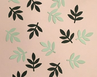 Green Frond Fern Leaf Confetti Shower Confetti Wedding Confetti Birthday Confetti Leaf Confetti Green Confetti