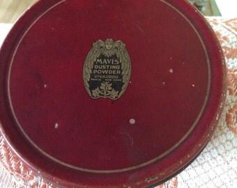Vintage Dusting Powder Can