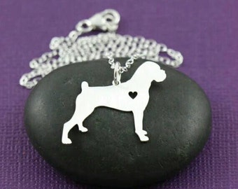 Boxer pendant sitting dog collectible