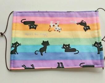 100% Cotton Fabric Four-Layer Gauze Masks/The Rainbow Cat