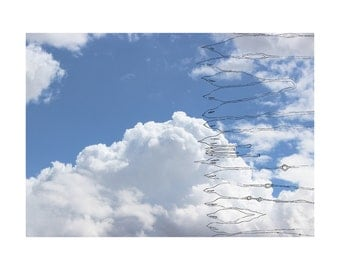 clouds and birds, print, home