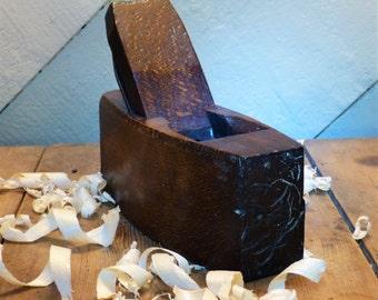 "8"" Wooden Block Plane/Old Wooden Block Plane/Old Woodworking Tool/Vintage Block Plane"