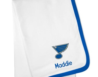 Personalized St. Louis Blues Baby Blanket