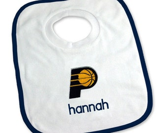 Personalized Indiana Pacers Baby Bib
