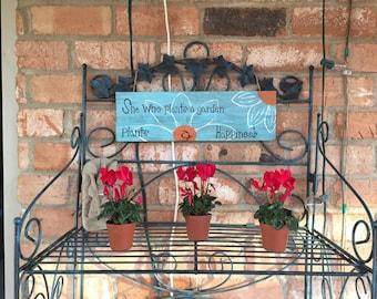 Flower wooden sign