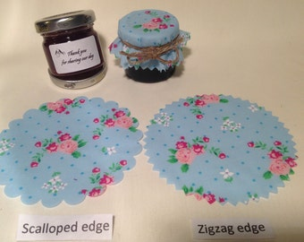 Jam jar covers Wedding X 50  + twine/bands/labels
