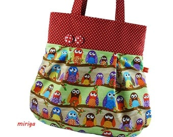 Shoulder bag owls