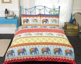 JAIPUR ELEPHANTS Tribal print duvet sets available in three sizes
