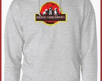 Parks and recreation/jurassic park Hoodie
