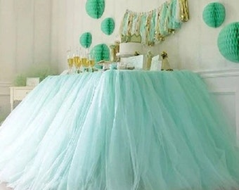 120inx30in. = 10ft Lastic Tutu Table Skirt (Any Color)
