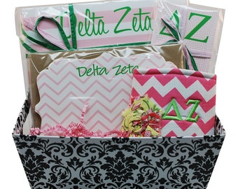 Delta Zeta Sorority Gift Basket - Style 3