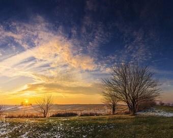 Winter Sunset Prints