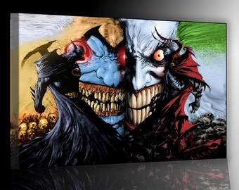 Spawn Vs Batman print on canvas 50x70cm already framed and ready to hang