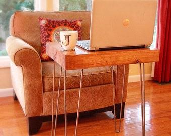 wood desk, wood side table, industrial wood desk, reclaimed desk, wood mini desk, wood table, reclaimed table