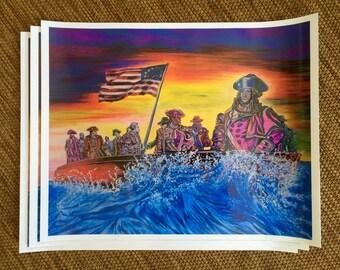 "16""x20"" Signed Print of original ""Georgie Crossing"""