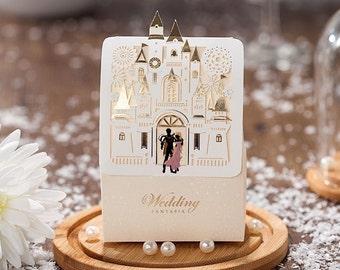 Fairytale Disney wedding candy favor boxes Enchanted Giselle & Edward /pkg 50 pieces/set
