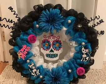 Dia de los Muertos// Day of the Dead wreath