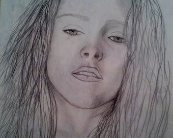 Pencil portrait Kristen Stewart