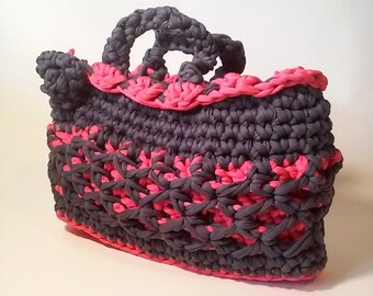 Gift woman mom girlfriend bag with handles-tone strap double crochet