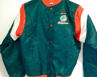 Vintage Miami Dolphins Bomber Button Up Jacket S