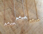 Mountain Necklace | Snowy Mountain Necklace | Silver Rose Gold Plated Hiking Necklace | Dainty Mountain Top Pendant | Snowy Mountain Top