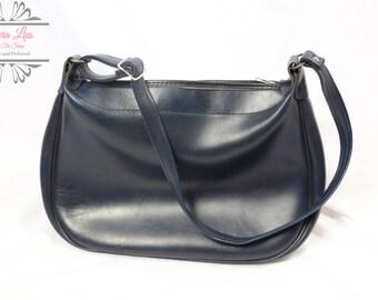 Vintage Large Blue Hobo Bag