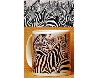 Zebra Mug, Zebra Decor, Coffee Mug, Coffee, Zebra