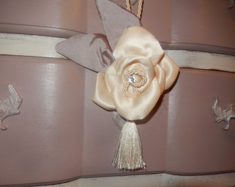 Handle tassel silk flower for door key or  furniture