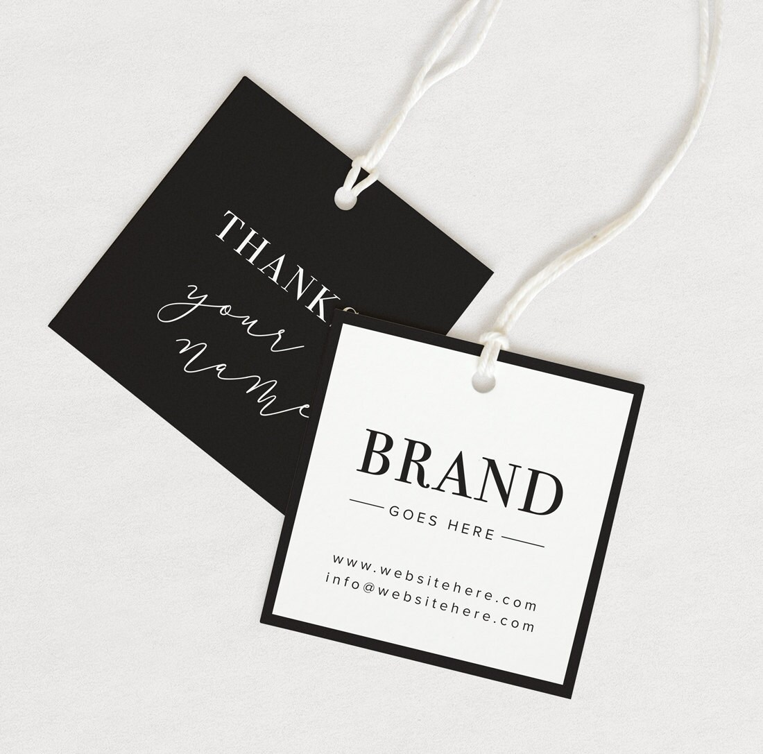 Thank You Tag Product Thank You Custom Hang Tag Custom