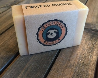 Twisted Orange - Citrus & Orange Peel - Premium Handmade Soap - 100% Natural and Organic