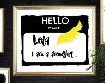 Copacabana Lola Print, Copacabana Lola Art, Barry Manilow Print, Barry Manilow Printable, Lola Showgirl Print, Lola Showgirl Printable