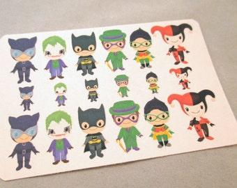 Batman Character Stickers