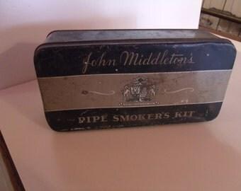 1940's John Middleton's Pipe Smoker's Kit, Advertising Tin, (# 479/16)