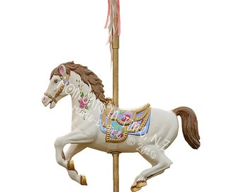 MIT Carousel Horse Digital Overlay