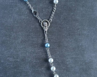 Two-Tone Pearl Car Rosary