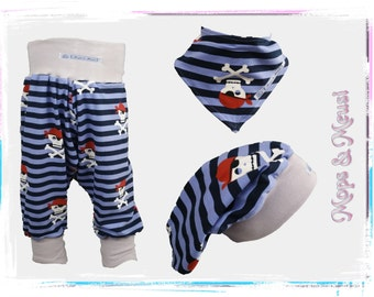 Bloomers 98 Beanie 50 / 54 scarf blue pirate