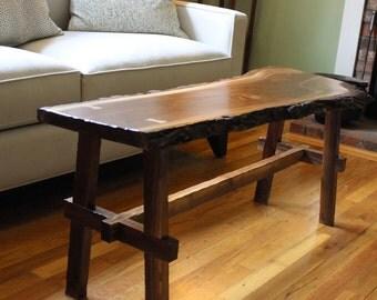 Live Edge Walnut Bench/Coffee Table