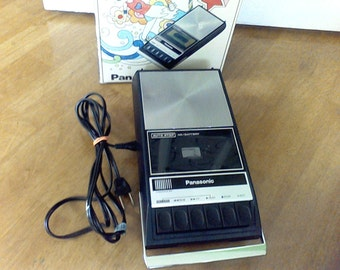Panasonic Tape Player, Recorder,RQ-309S, Compact, AC- Battery Operation, Push Button