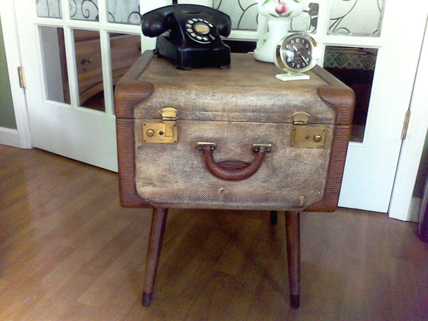 Suitcase Table Mid Century Table Coffee Table Table With