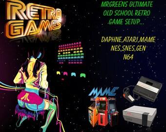 Atari,Mame,Arcade,Snes,Nes,N64,Genesis, Roms, Rompack, USA Roms Hyperspin Usb Plug and Play.