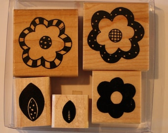 Funky Florals rubber stamps by CTMH