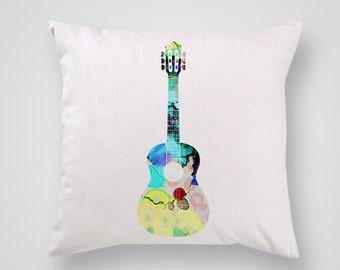 Guitar  Decorative Pillow - Art Pillow Cover - Throw Pillow - Gift Idea for Musician